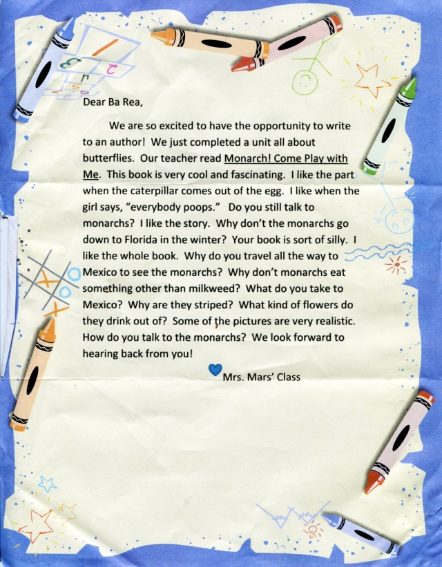A Letter from Mrs Mars' Class